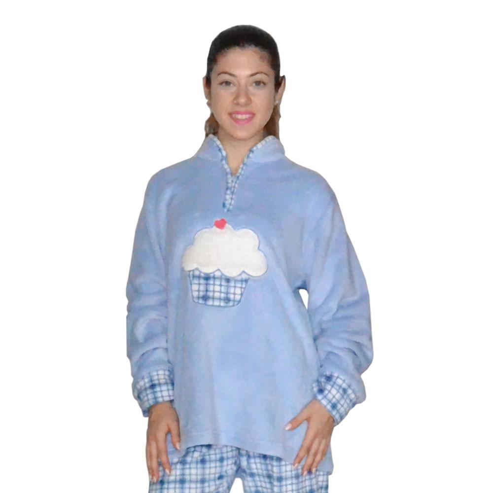 Karelpiu Πυτζάμα Γυναικεία ΦΛΙΣ Γαλάζια με Συννεφάκι  b0ee1c0a353