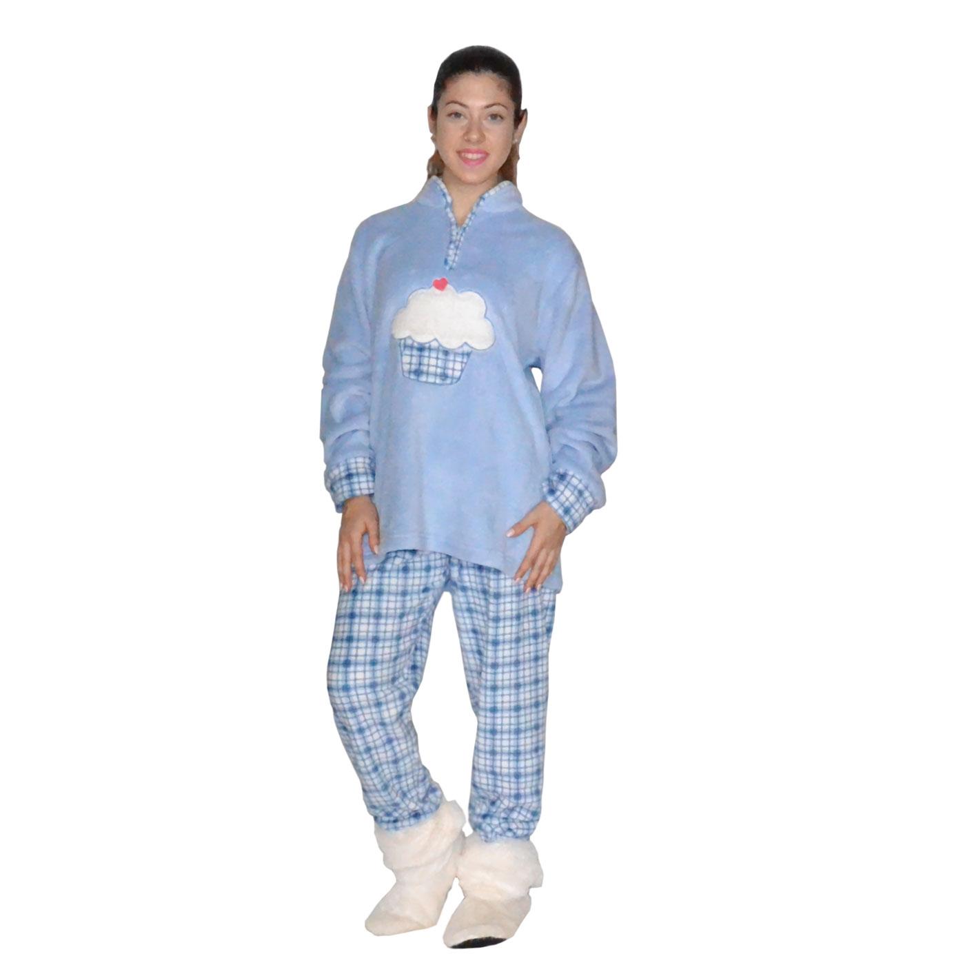 Karelpiu Γυναικεία Πυτζάμα ΦΛΙΣ Γαλάζια με Συννεφάκι  64ef047553b