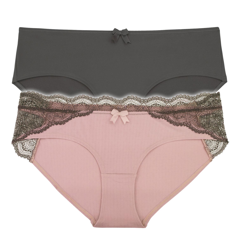 DORINA Σλιπάκια Hipster Jasmine 1+1 Δώρο σε Ροζ   Γκρι  bebfc4aa2ed