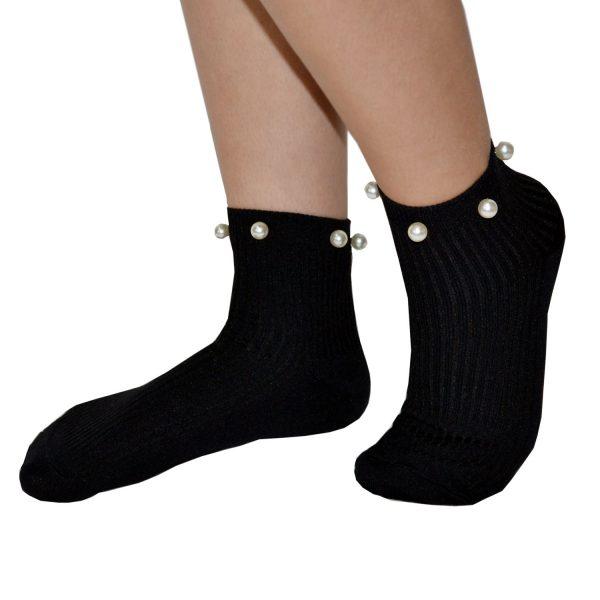 Ciocca Σοσόνια Κάλτσες με Πέρλες σε Μαύρο χρώμα ce972297306