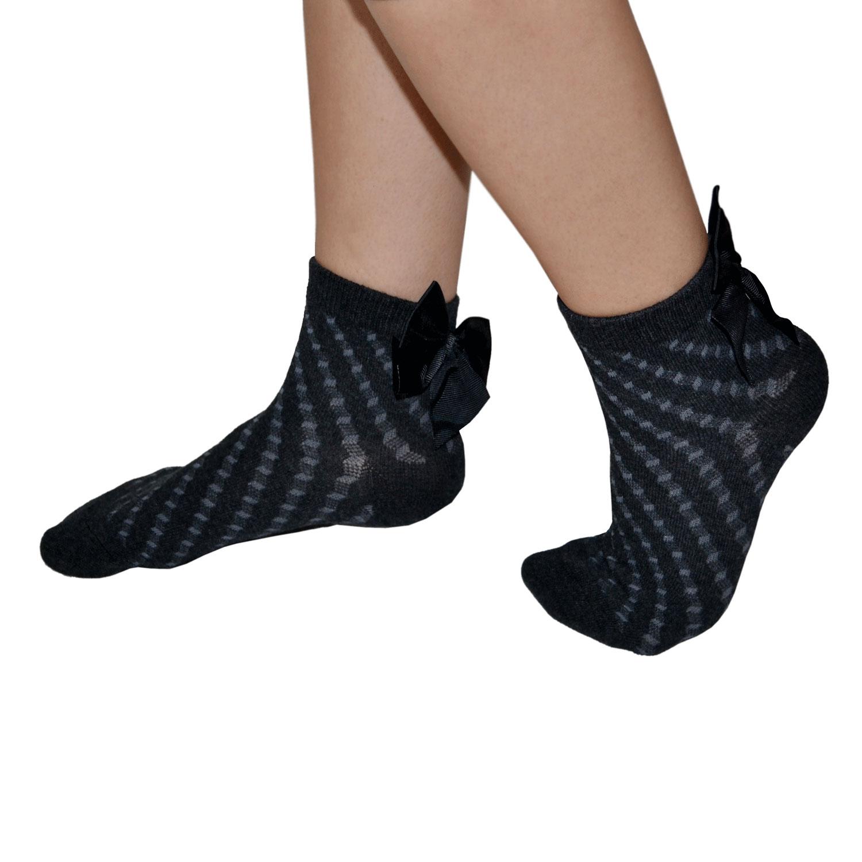 Ciocca Σοσόνια Κάλτσες με Φιογκάκι σε Ανθρακί χρώμα  50b1858b0d1