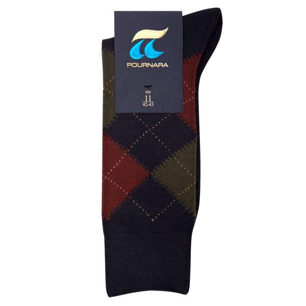 ΠΟΥΡΝΑΡΑ Κάλτσες Ανδρικές με Ρόμβους σε Μπλε χρώμα 38b5ae78097