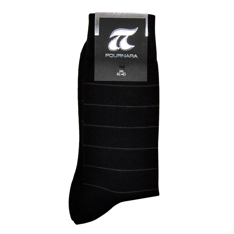 ΠΟΥΡΝΑΡΑ Κάλτσες Ανδρικές με Ρίγα σε Μαύρο χρώμα  b681b7f09f0