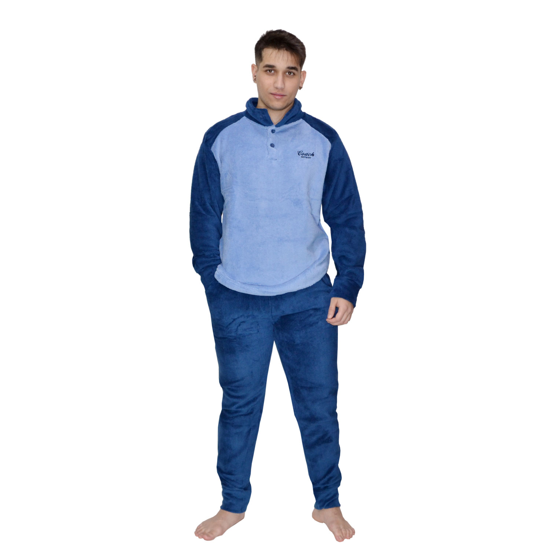 Karelpiu Πυτζάμα Ανδρική Fleece τύπου Φόρμας σε Μπλέ  2aefba01820