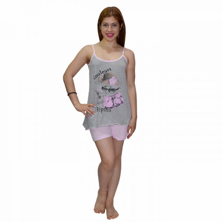 e64d46f1050 Γυναικεία Πυτζάμα Δίχρωμη Bozer Γκρί/Ροζ 00538