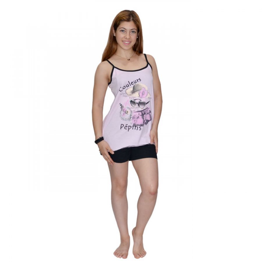 43be6c2a9c8 Γυναικεία Πυτζάμα Bozer Μαύρο/Ροζ 00538